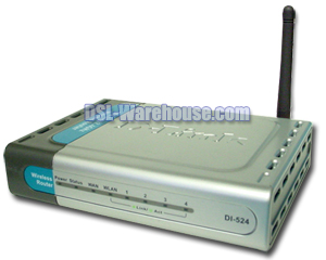 D-Link DI-524 High Speed 2.4GHz (802.11g) Wireless Router