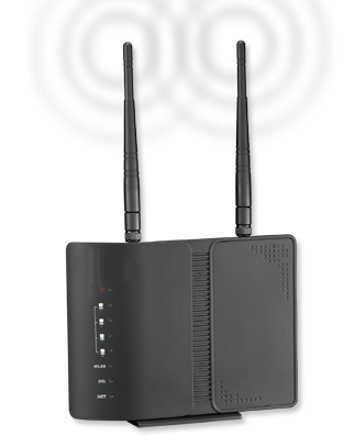 The Data Connect 5204AV-NRD 4-Port Wireless-N ADSL VDSL Router Device