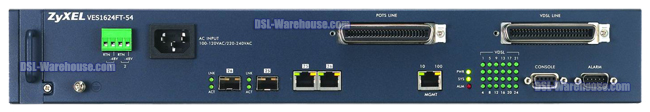 ZyXEL 24 Port VDSL2 DSLAM VES1624FT-54 Connections View