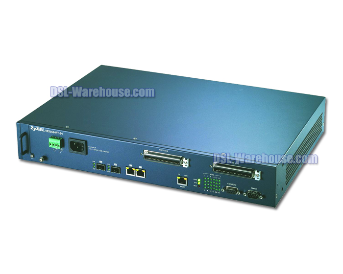 ZyXEL VES1624FT-54 24-Port Temperature-Hardened VDSL2 DSLAM